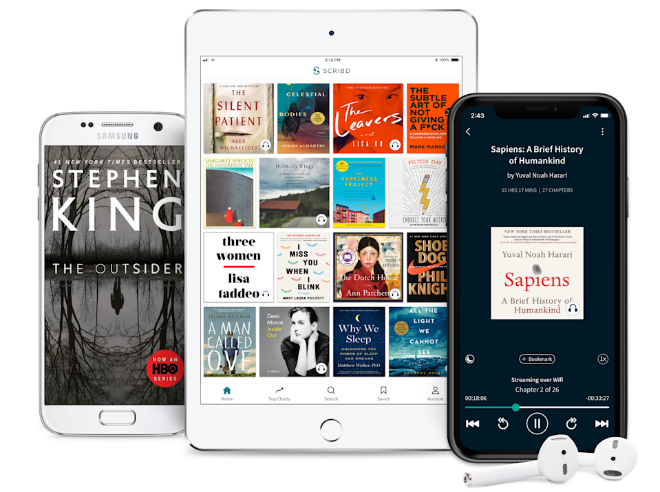 Best gifts for book lovers: Scribd subscription