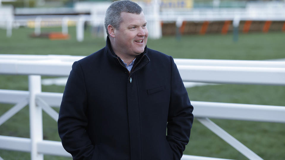 Gordon Elliott, pictured here at the Cheltenham National Hunt Racing Festival in 2020.