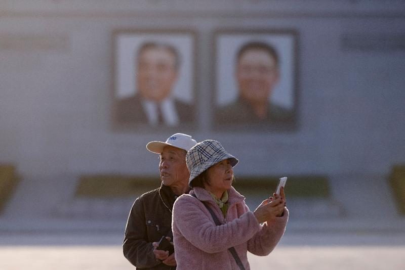 Kim Il Sung square in Pyongyang is one of the highlights of tours of the North Korean capital (AFP Photo/Ed JONES)