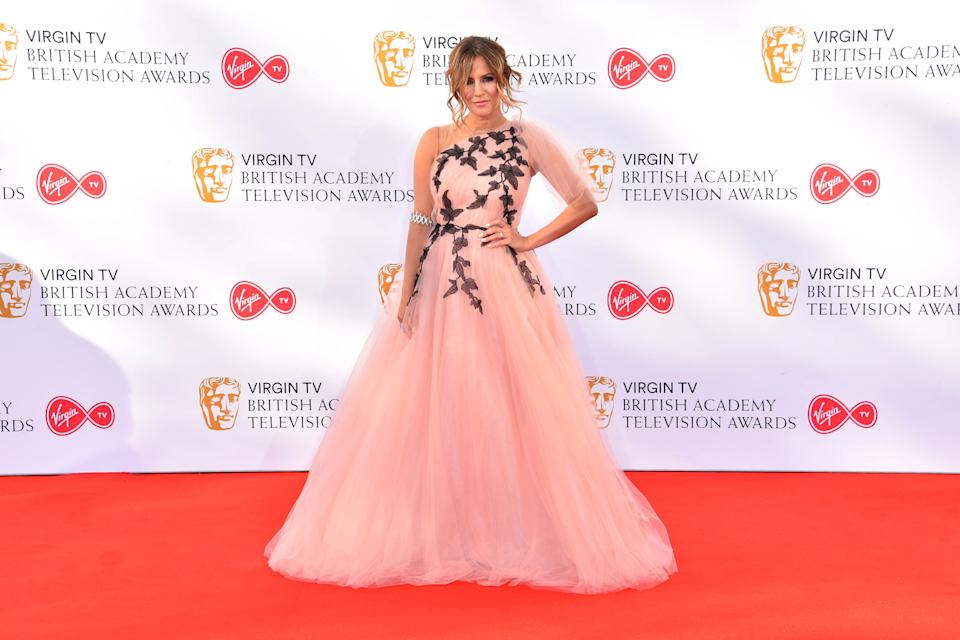 Caroline Flack attending the Virgin TV British Academy Television Awards 2018 held at the Royal Festival Hall, Southbank Centre, London.