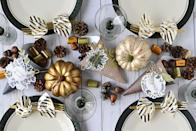 """<p>This blogger made her table set up even sweeter by stuffing homemade cornucopias with chocolate and other candies. The best part—guests won't have to go far for dessert.</p><p><strong>Get the tutorial at </strong><a href=""""https://wermemorykeepers.wordpress.com/2017/11/10/thanksgiving-cornucopia-centerpiece/"""" rel=""""nofollow noopener"""" target=""""_blank"""" data-ylk=""""slk:We R Memory Keepers"""" class=""""link rapid-noclick-resp""""><strong>We R Memory Keepers</strong></a><strong>.</strong></p><p><a class=""""link rapid-noclick-resp"""" href=""""https://www.amazon.com/CrazyOutlet-Hersheys-Kisses-Chocolate-Caramel/dp/B07Y2DDVTH/ref=sr_1_7?tag=syn-yahoo-20&ascsubtag=%5Bartid%7C10050.g.2130%5Bsrc%7Cyahoo-us"""" rel=""""nofollow noopener"""" target=""""_blank"""" data-ylk=""""slk:SHOP THANKSGIVING CANDY""""><strong>SHOP THANKSGIVING CANDY</strong></a></p>"""