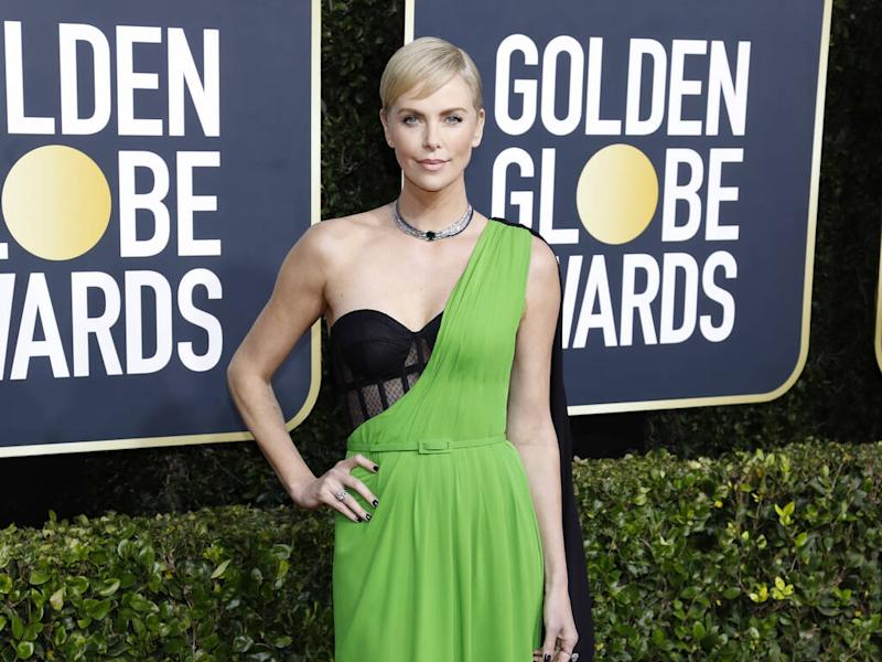 Charlize Theron dyed her hair two hours before 2020 Golden Globes