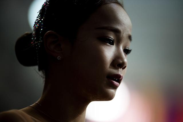 Lim Eun-soo was injured by another skater before competing Wednesday. (Getty Images)