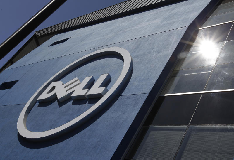 The sun is reflected in the exterior of Dell Inc.'s offices in Santa Clara, Calif., Tuesday, Aug. 21, 2012. Dell Inc.'s announced Tuesday, Aug. 21, 2012, that its earnings slump deepened in its latest quarter as the growing popularity of smartphones and tablet computers undercut sales of its desktop and laptop computers. (AP Photo/Paul Sakuma)