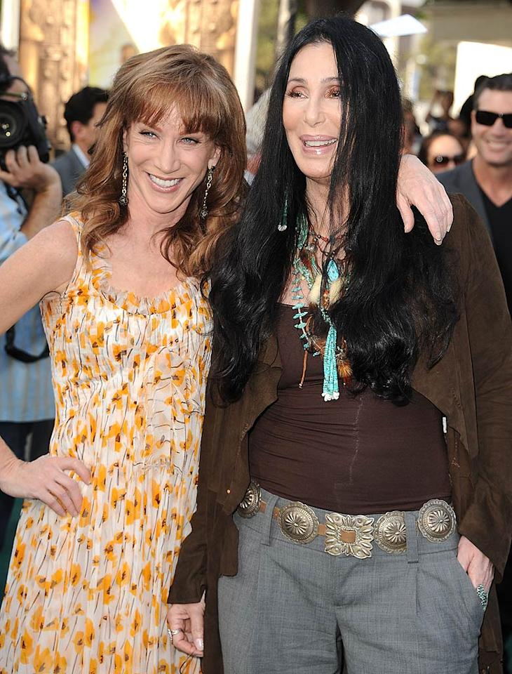 "How can Kathy Griffin claim she's a D-lister when she's hanging around with the likes of Cher at movie premieres? The pals posed together on the red carpet at the L.A. premiere of ""Zookeeper"" in Westwood, California, on Wednesday. Steve Granitz<a href=""http://www.wireimage.com"" target=""new"">WireImage.com</a> - July 6, 2011"