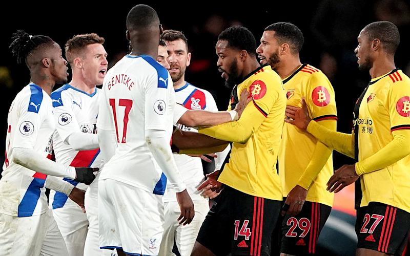Players from both teams clash as tempers boil - PA