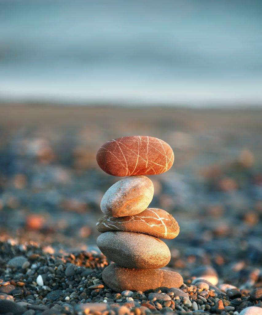 close up shot of pebbles on beach.