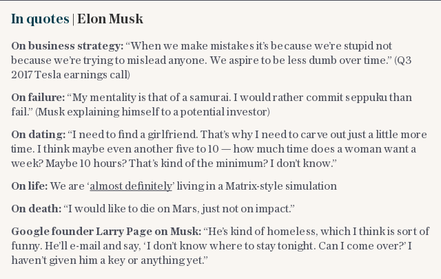 In quotes | Elon Musk