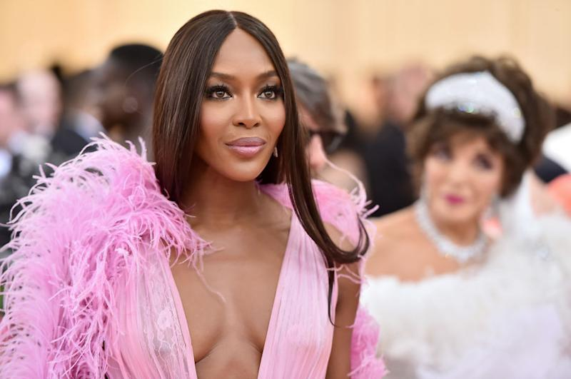Naomi Campbell has previously shared her hygiene routine on a flight, pictured here at the 2019 Met Gala (Getty)