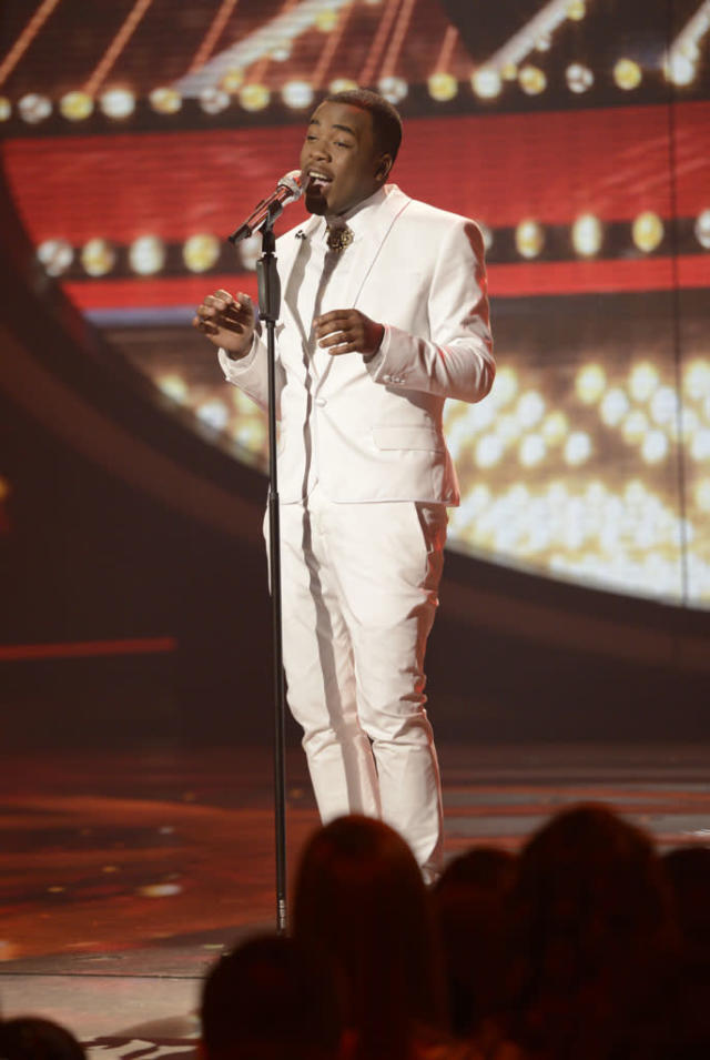 "Burnell Taylor performs Stevie Wonder's ""My Cherie Amour"" on the Wednesday, March 27 episode of ""American Idol."""