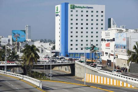 The Holiday Inn Express hotel is pictured in Boca del Rio, Veracruz, Mexico February 11, 2018. Picture taken February 11, 2018. REUTERS/Yahir Ceballos