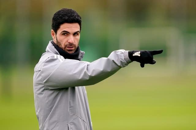 Arteta has been unable to get out on the training ground with his players of late. (John Walton/PA)