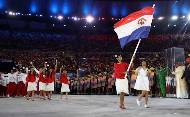 "<div class=""caption""> Granada carried the flag for Paraguay during the Opening Ceremony of the Rio 2016 Olympic Games. </div> <cite class=""credit"">Cameron Spencer/Getty Images</cite>"