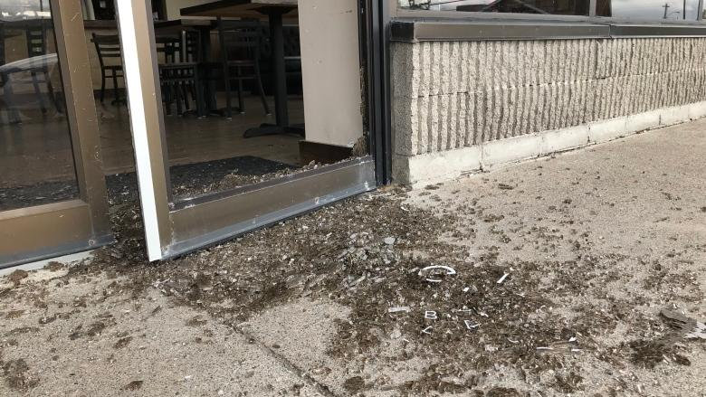Smashed glass at St. John's coffee shop after alleged break and enter