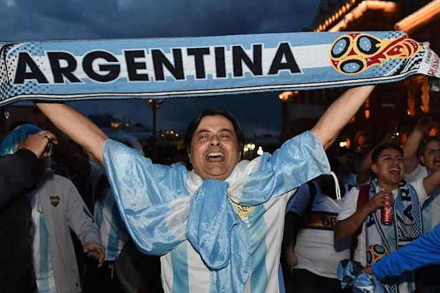 Argentina face Iceland in Moscow in their first match of the World Cup (AFP Photo/Vasily MAXIMOV)