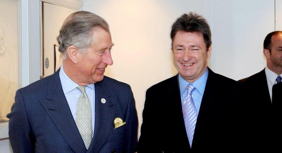 The Prince of Wales, (left), talks with Alan Titchmarsh, (centre) and Kim Lavely, Chief Executive of the Prince's Foundation for Integrated Health after he presented the foundation's annual awards in London today.