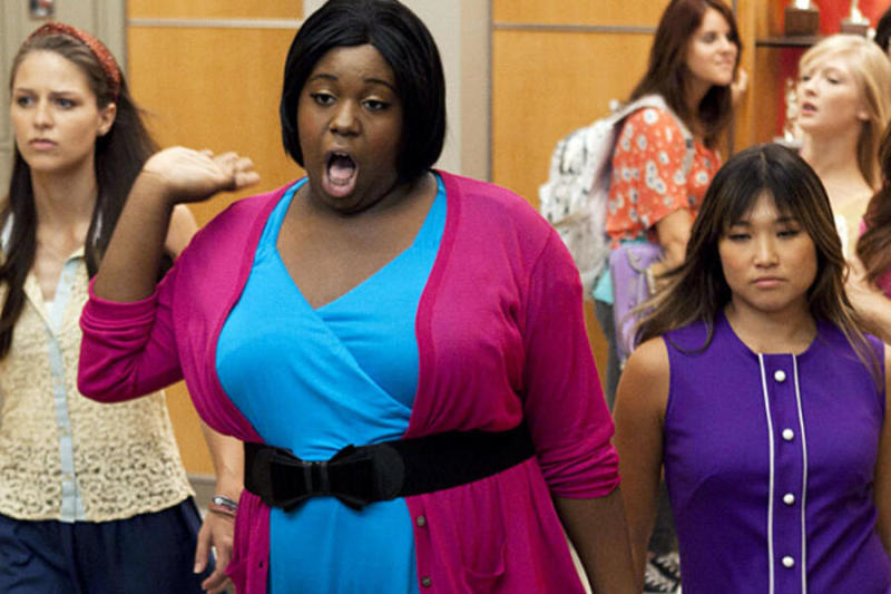 Alex Newell appears as Unique Adams on Glee.