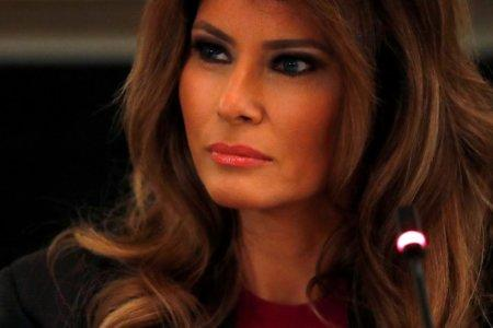 FILE PHOTO: U.S. first lady Melania Trump hosts a roundtable discussion with tech leaders on the effects of the - RC153AF40210