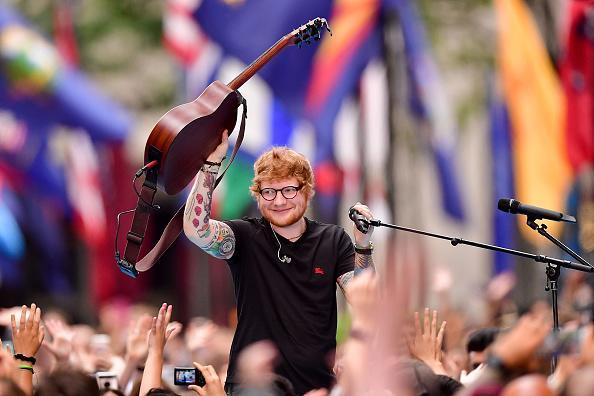 Ed Sheeran performs in New York (Getty images)