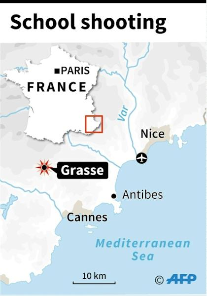 The shooting took place in Grasse, not far from the French Riviera resort of Nice