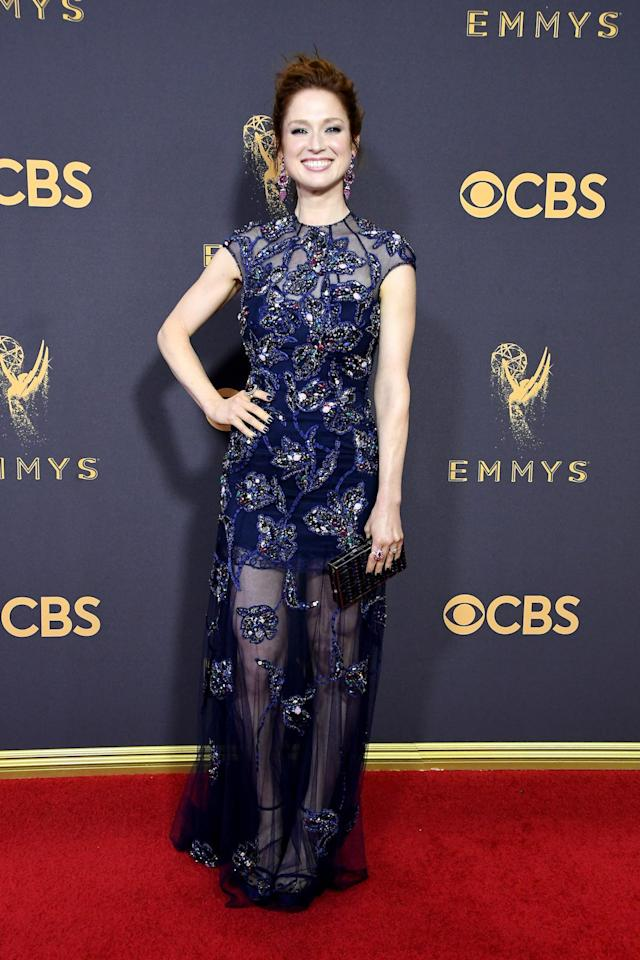 <p>Ellie Kemper attends the 69th Primetime Emmy Awards on Sept. 17, 2017.<br> (Photo: Getty Images) </p>