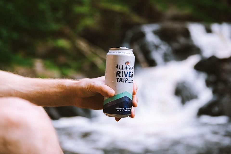"<p>A Belgian-style session ale that's perfect for a day of fishing and canoeing. Or, really, any kind of trip. Like the one from the refrigerator to the <a href=""https://www.cosmopolitan.com/lifestyle/a28413519/cosmoliving-influencers-decor/"" rel=""nofollow noopener"" target=""_blank"" data-ylk=""slk:couch"" class=""link rapid-noclick-resp"">couch</a>. Allagash's <a href=""https://www.allagash.com/beer/river-trip/"" rel=""nofollow noopener"" target=""_blank"" data-ylk=""slk:River Trip"" class=""link rapid-noclick-resp"">River Trip</a> is brewed with local grains and flows from the can with refreshing grapefruit and stone fruit notes.</p>"