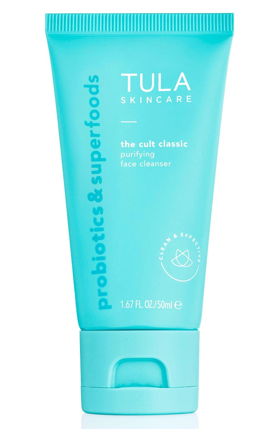 """<p>""""I started using the <span>Tula The Cult Classic Purifying Face Cleanser</span> ($28) back when I was in college and I still use it to this day. It's simple yet so effective at cleansing your face and reducing breakouts without leaving your skin feeling dry. I'm constantly asked by friends if it's as good as people say - it is."""" - JH</p>"""