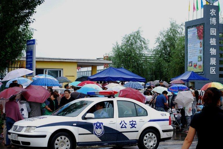 File photo of a police car in Jilin on August 28, 2010