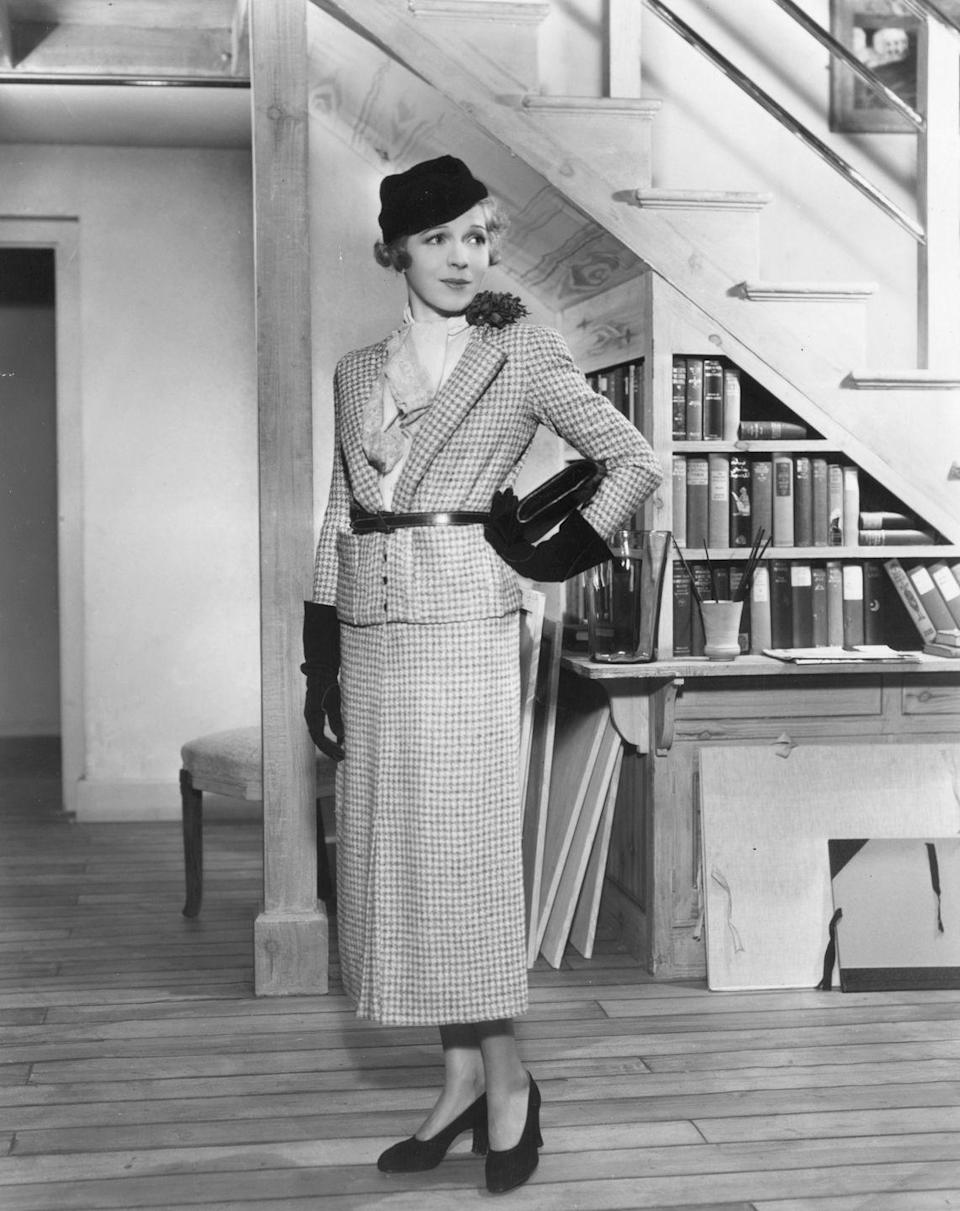 """<p>This houndstooth ensemble just screams """"step into my office."""" </p>"""