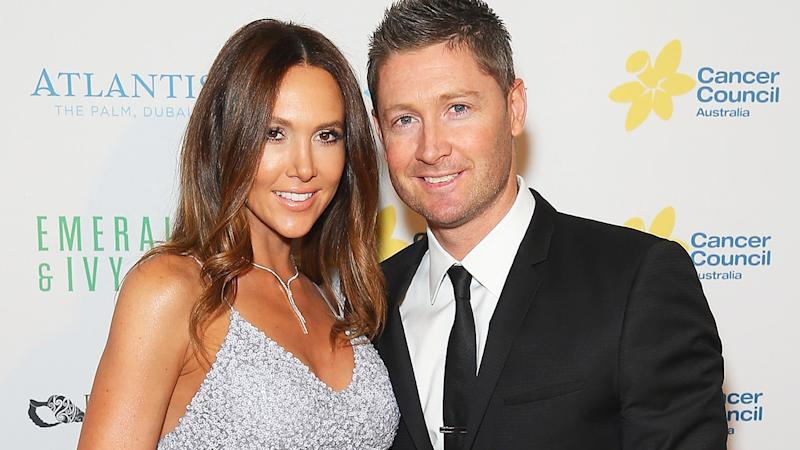 Kyly and Michael Clarke, pictured here at the Cancer Council Australia's Emeralds & Ivy Gala Ball in 2015.