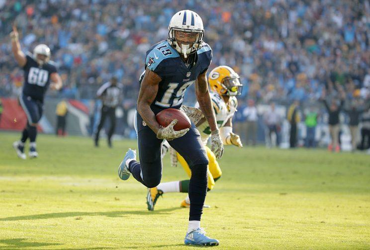 Tajae Sharpe is the focus of a new lawsuit. (Getty Images)