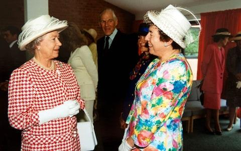 Dame Stephanie meeting the Queen in 1996 - Credit:  Paul Grover