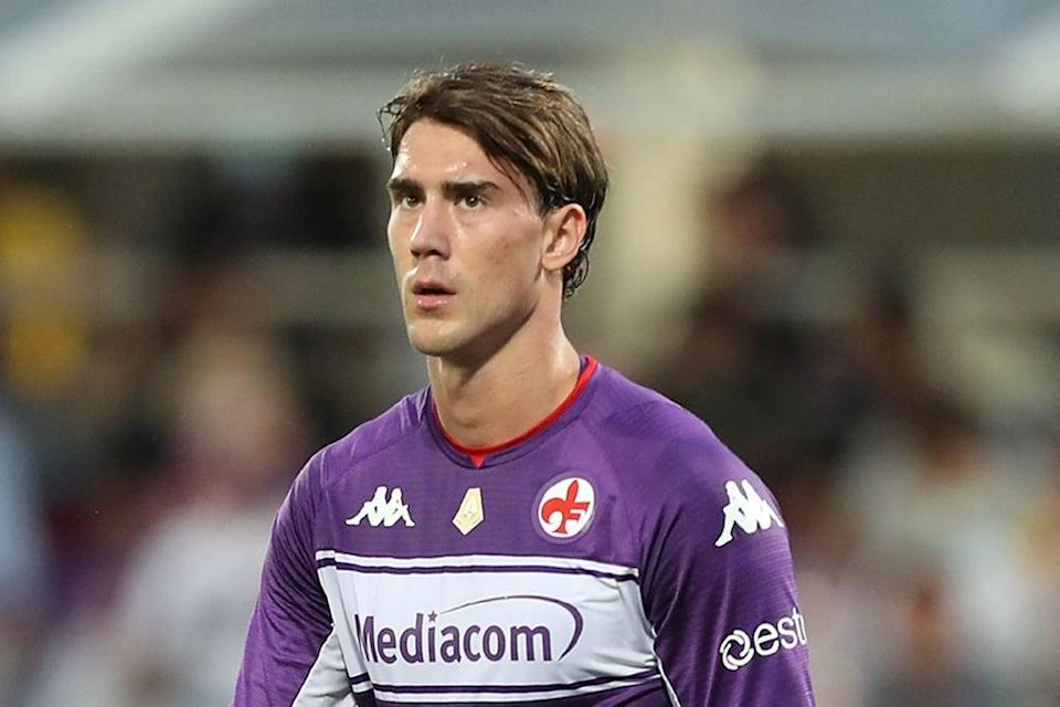 Fiorentina striker Dusan Vlahovic has been heavily linked with a move to English football  (Getty Images)