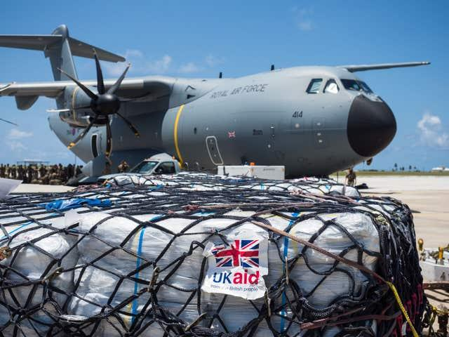 Aid being delivered to the Caribbean islands stricken by Hurricane Irma (Andy Wasley/MoD/Crown Copyright/PA)