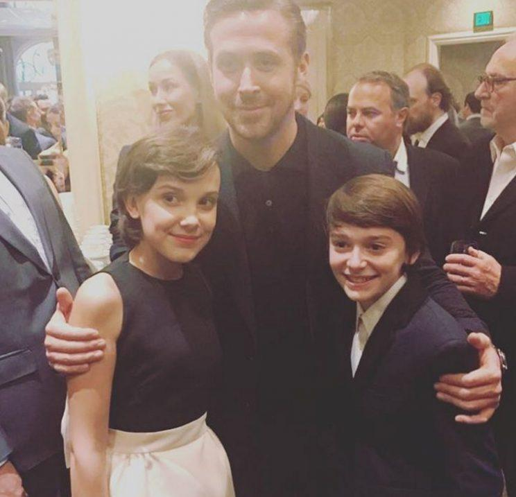 <p>And if you're going to take a pic with Emma Stone you may as well take one with her La La Land co-star, Ryan Gosling, too.</p>
