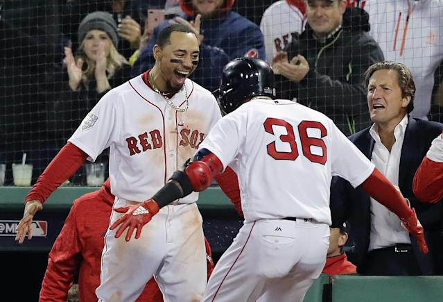 The Boston Red Sox defeated the Los Angeles Dodgers, 8-4, in Game 1 of the 2018 World Series. (Getty Images)