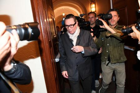 Jean-Claude Arnault arrives at the district court in Stockholm, Sweden September 19, 2018. TT News Agency/Fredrik Sandberg via REUTERS