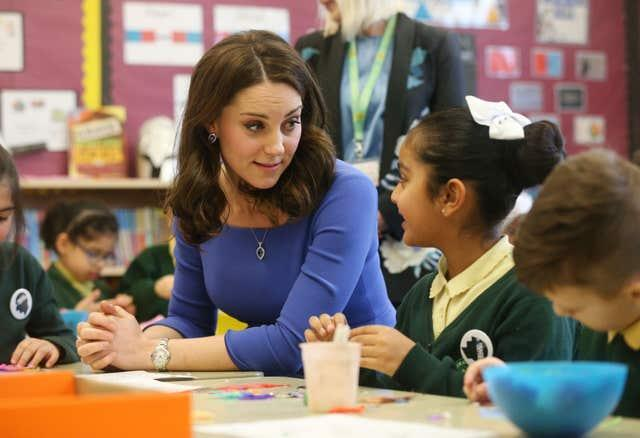 Kate during her visit to Roe Green Junior School in 2018. Jonathan Brady