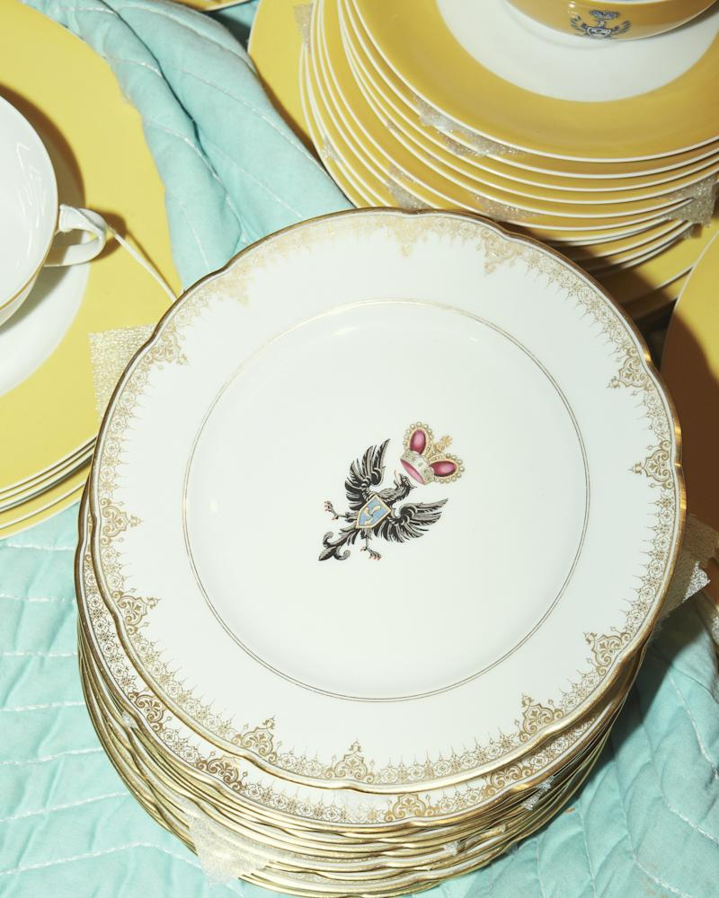 China with the Radziwill family crest—an eagle.