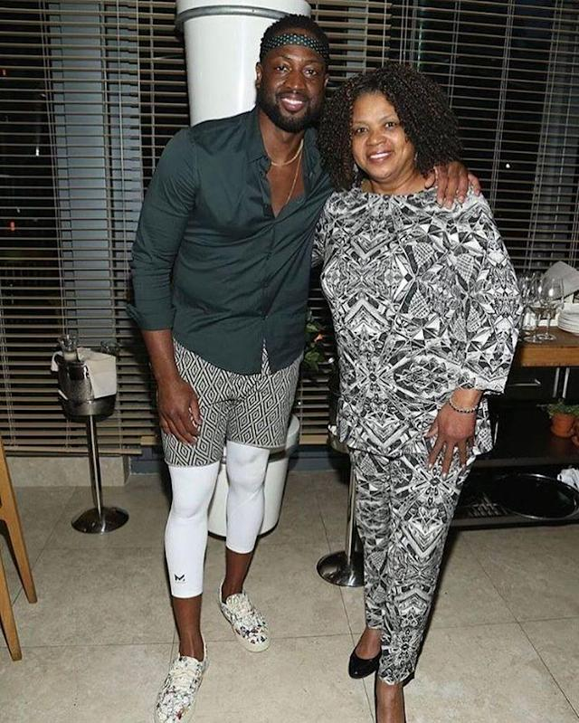 "<p>""Happy Mothers Day to my MOTHER Pastor JoLinda Wade!!!"" the NBA star captioned this pic. ""Thank you for allowing me to be your son. I love you!"" Aww. (Photo: <a href=""https://www.instagram.com/p/BUE34bFg-2s/?taken-by=dwyanewade&hl=en"" rel=""nofollow noopener"" target=""_blank"" data-ylk=""slk:Dwyane Wade via Instagram"" class=""link rapid-noclick-resp"">Dwyane Wade via Instagram</a>) </p>"