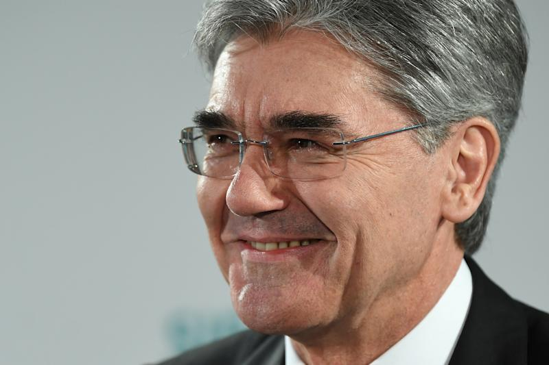 MUNICH, GERMANY - FEBRUARY 05: Joe Kaeser, head of German engineering conglomerate Siemens AG, speaks to the media shortly before the companys annual general shareholders meeting on February 5, 2020 in Munich, Germany. The meeting is taking place amidst protests outside. Demonstrators are calling on Siemens to withdraw from its planned participation in the Carmichael coal mine project in Australia. (Photo by Getty Images)