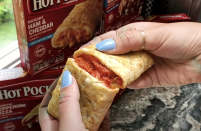 <p>If this didn't have a buttery-garlic seasoning, it would not rank this high. It's packed with spicy pepperoni but is lacking in the cheese department.</p>