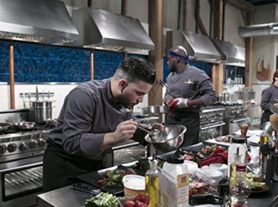 """<p><em>Chopped</em> hopefuls wait to hear back from producers to schedule an on-camera interview. <a href=""""https://www.thrillist.com/eat/nation/chopped-food-network-tv-show-try-out"""" rel=""""nofollow noopener"""" target=""""_blank"""" data-ylk=""""slk:According to former contestant"""" class=""""link rapid-noclick-resp"""">According to former contestant</a> Julianne Feder, this was the opportunity to sell skills, backstory, and why you thought you'd make it all the way.</p>"""