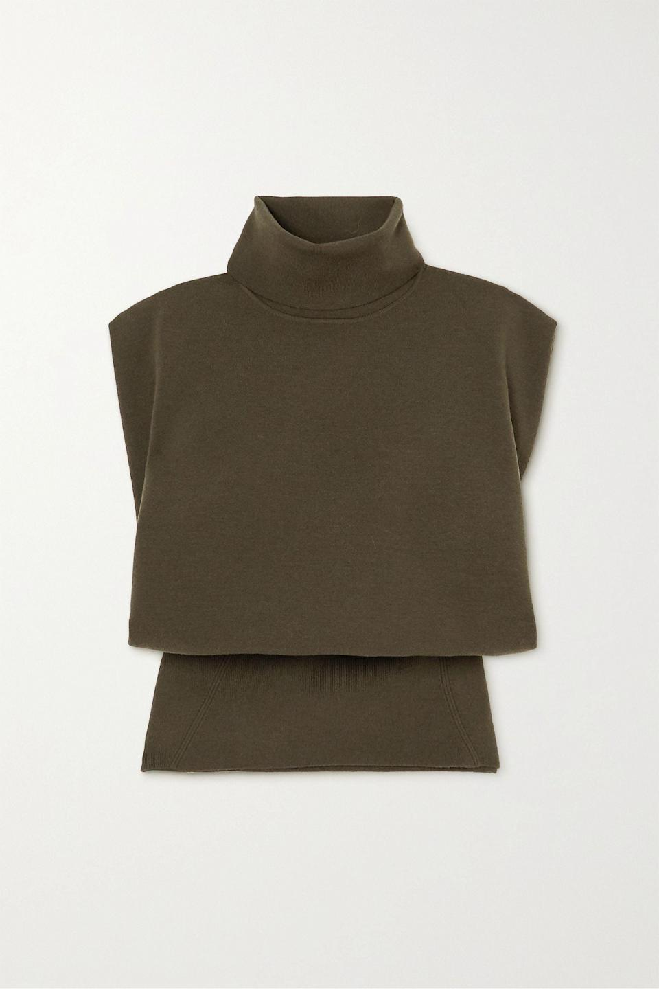 <p>Thiss <span>Army green Wool-blend turtleneck sweater</span> ($445) speaks to my earthy fall palette.</p>