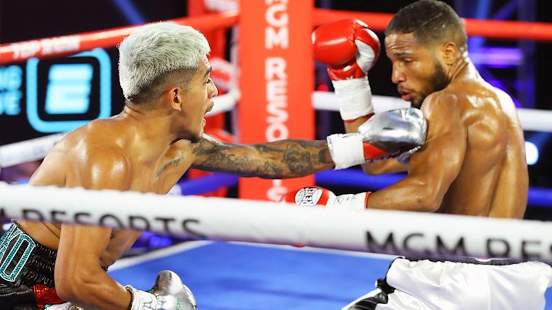 Magdaleno knocks down Vicente twice, wins by DQ