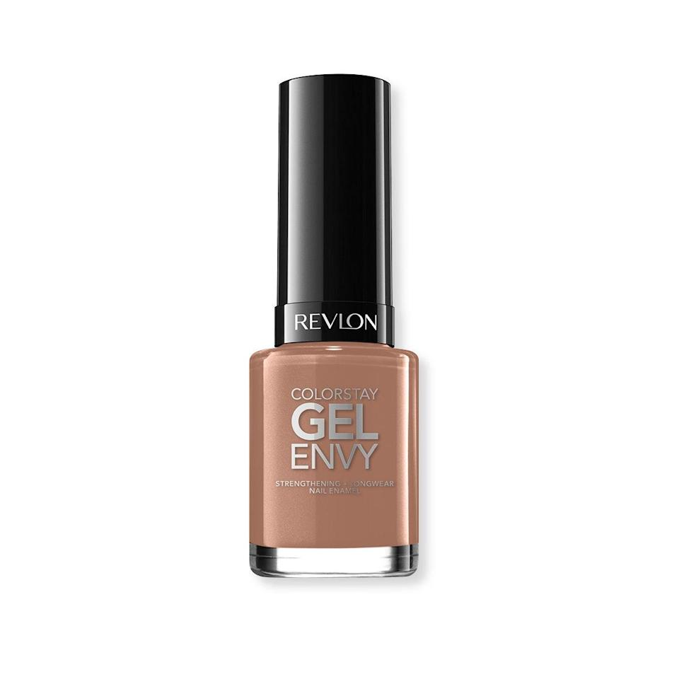 "I can't be trusted to not chip my own manicures, yet gel manicures at a salon are too rough on my nails, so Gel Envy has been my saving grace. I love how opaque this shade is, and that it's true nude for me. I find that the more minimal the shade, the less likely I am to pick at my nails, so the fact that this brown effortlessly camouflages against my skin actually makes me want to keep it on for longer. <em>—B.J.</em> $5, Revlon. <a href=""https://www.riteaid.com/shop/revlon-colorstay-gel-envy-longwear-nail-enamel-2-of-a-kind-0-4-oz?gclid=EAIaIQobChMIkqLR88-w5gIVR5yzCh2XMgIXEAQYASABEgLSWfD_BwE"" rel=""nofollow noopener"" target=""_blank"" data-ylk=""slk:Get it now!"" class=""link rapid-noclick-resp"">Get it now!</a>"