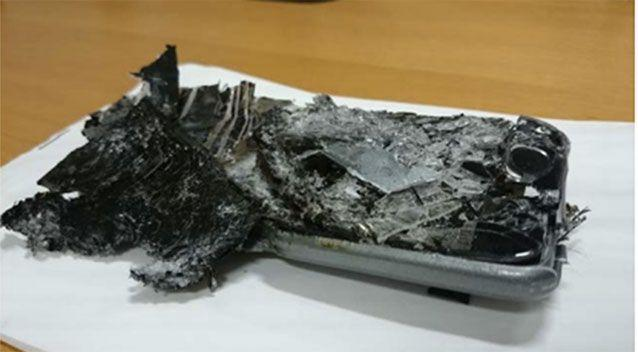 What's left of the passenger's PED. Source: ATSB