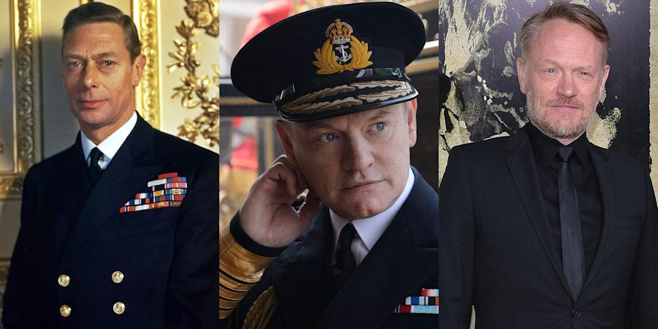 <p><em>Mad Men</em> star Jared Harris played Queen Elizabeth's father, King George VI, in Season 1 of <em>The Crown </em>and a brief scene in Season 2.</p>