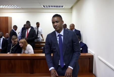 FILE PHOTO: Duduzane Zuma, the son of former South African president Jacob Zuma, appears at the Specialised Commercial Crimes Court in Johannesburg