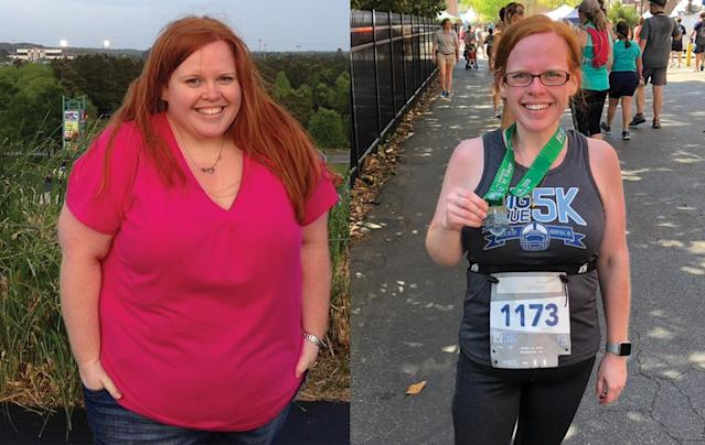 A few months into the Keto diet, Emily reignited an old passion for running. (Photo courtesy of Emily Golding)